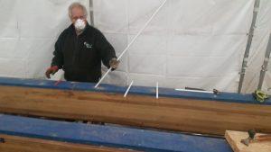 St Katharine dock bonded in rod repair to delamination