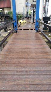 St Katharine dock bridge deck repairs
