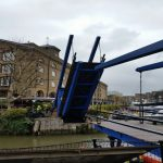 St Katharine Dock finished bridge repairs