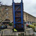 St Katharines Dock raised finished bridge