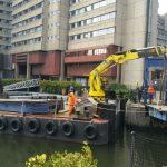 St Katharines dock bridge removal