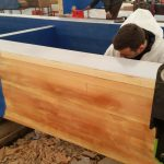 St Katharines Dock lamination repairs