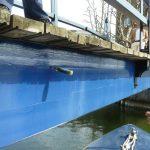 St Katharines dock uneven bridge deck
