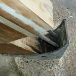 Shear connectors into the shoe