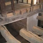 Existing timber ends with damage removed