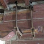 Previous beam reinforcing repairs