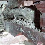 Damaged to beams in Sacra Infermeria