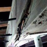 Supported beam in Sacra Infermeria