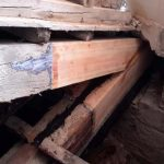 Beam and rafter foot repair Sacra Infermeria