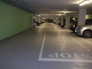 Aquachem painted underground garage